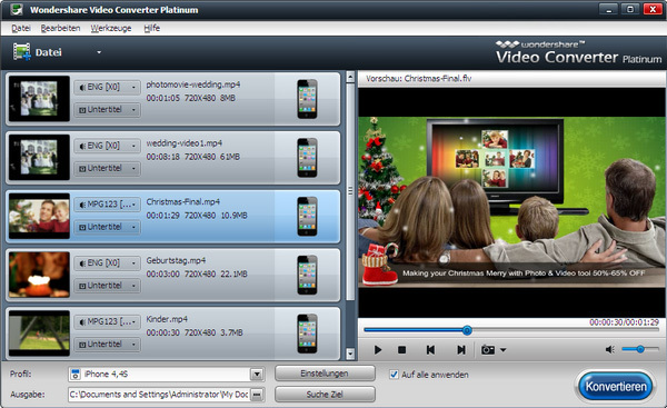 Video Converter Platinum HD 2013 screenshot 1