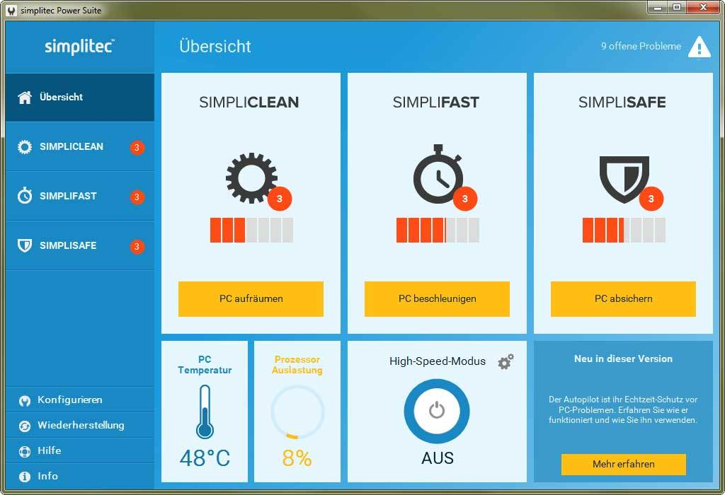 simplitec Power Suite screenshot 1