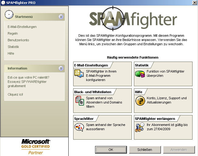 SPAMfighter pro screenshot 2