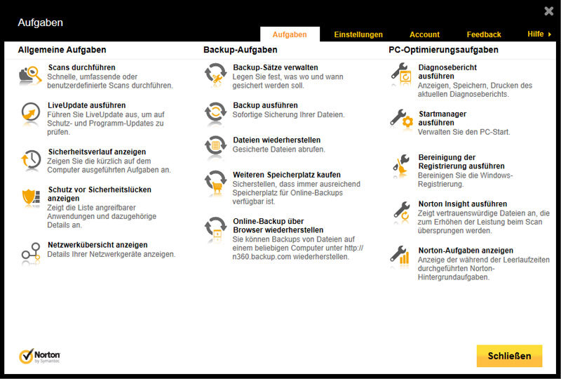 Norton 360 2013 screenshot 1