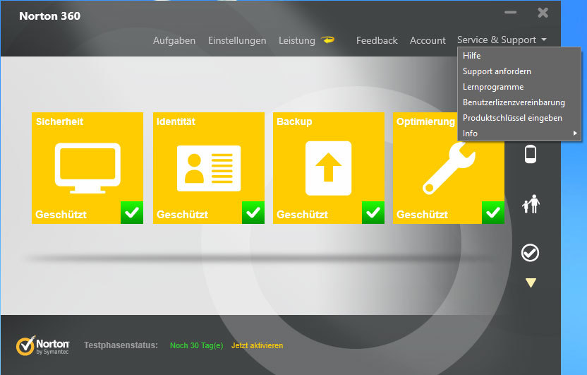 Norton 360 2013 screenshot 3