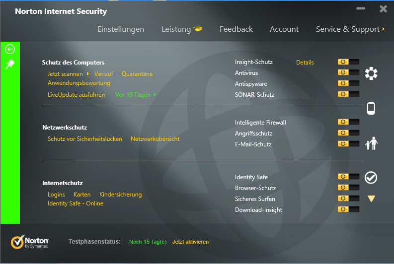 Norton Internet Security 2013 screenshot 1