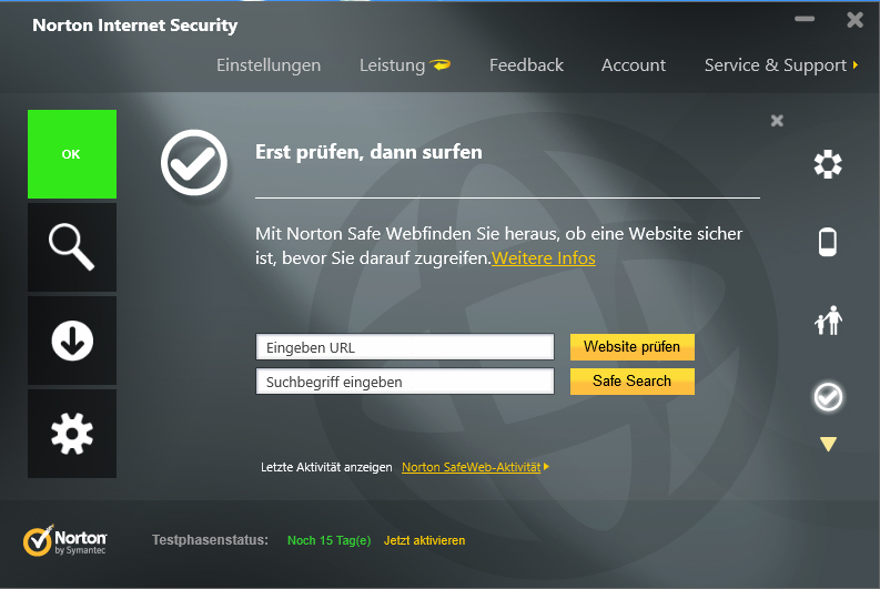 Norton Internet Security 2013 screenshot 4