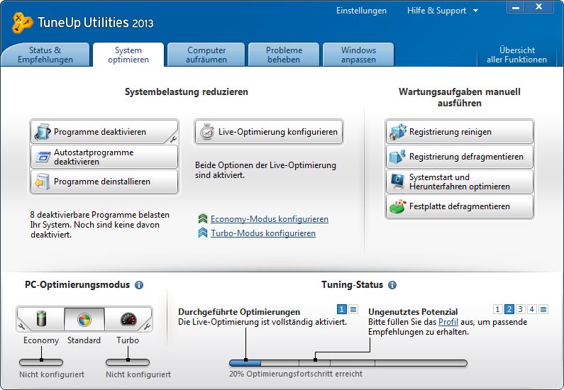 TuneUp Utilities 2013 screenshot 3