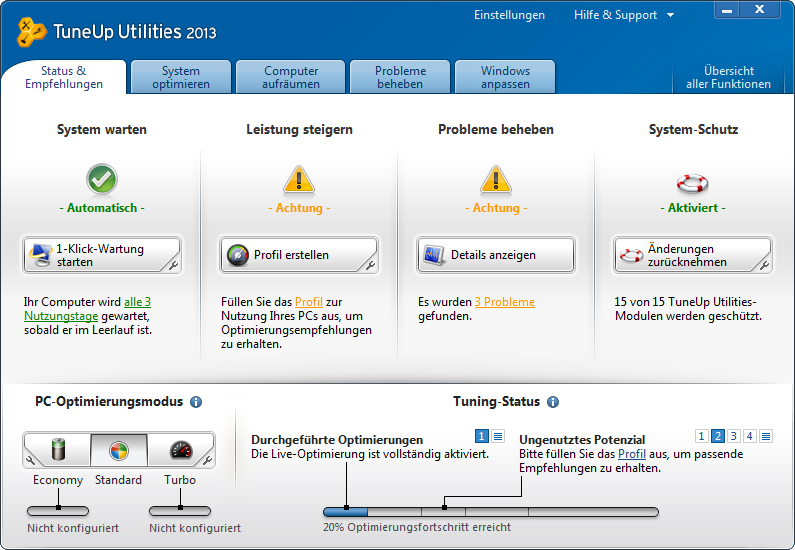 TuneUp Utilities 2013 screenshot 4