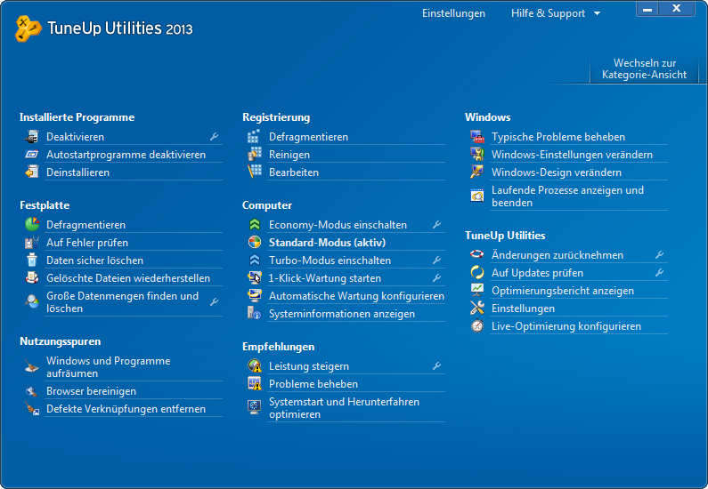 TuneUp Utilities 2013 screenshot 5