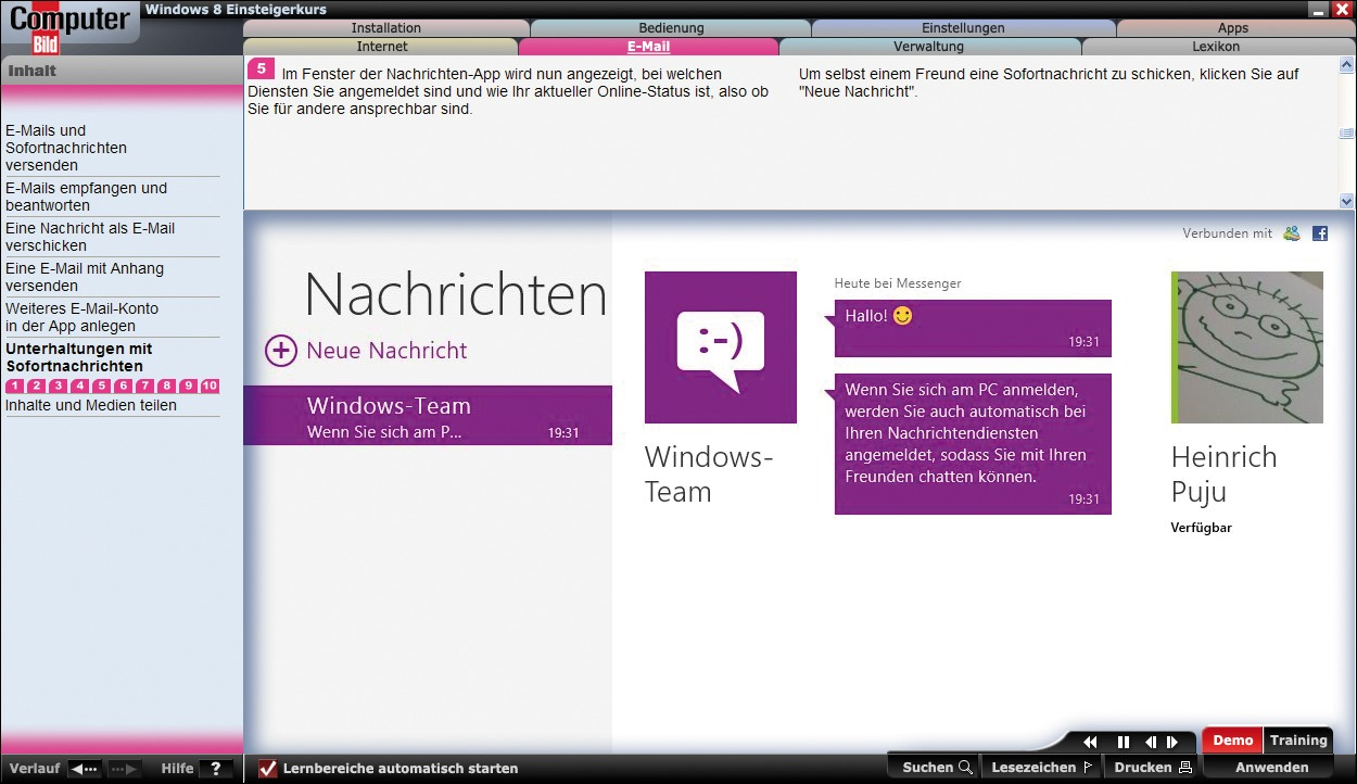 ComputerBild - Windows 8 Einsteigerkurs screenshot 2