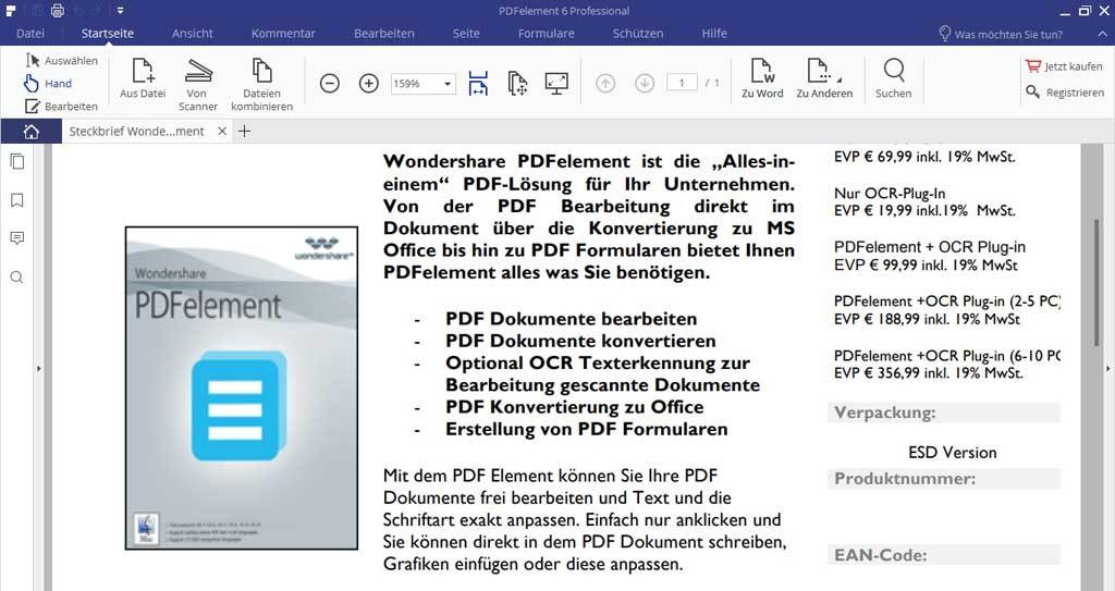 Wondershare PDFelement 6.5 Professional screenshot 2