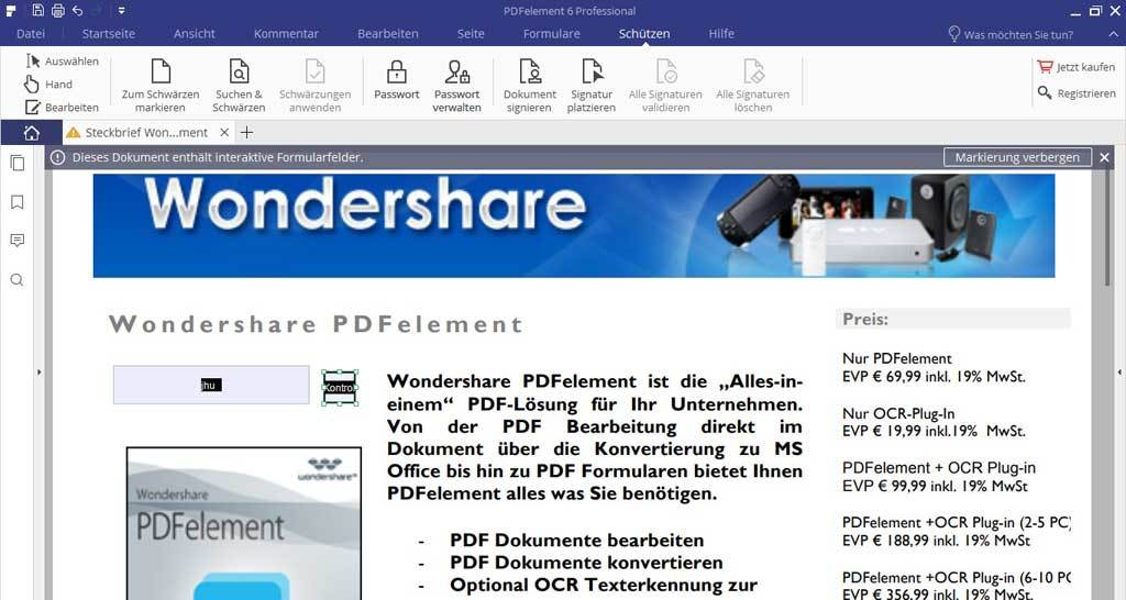 Wondershare PDFelement 6.5 Professional screenshot 3